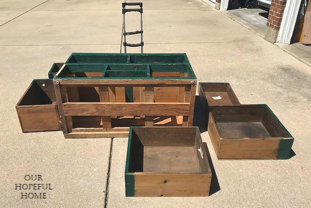 driveaway vintage seed chest drawers