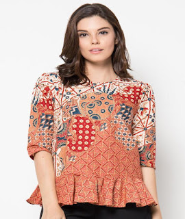 baju batik atasan wanita remaja