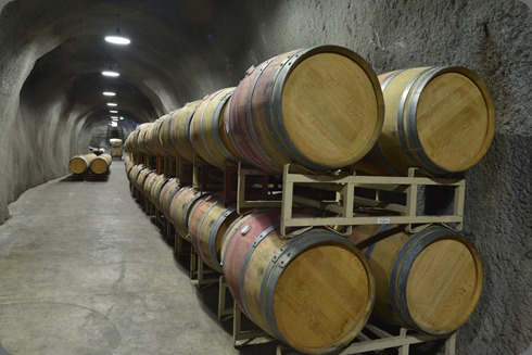 Maxville's wine cave has 2,000 barrel capacity. Photo courtesy of the winery