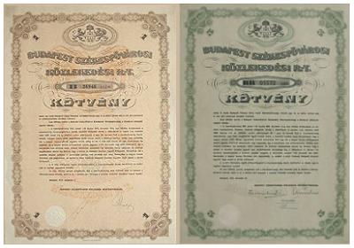 kötvények értékpapírok