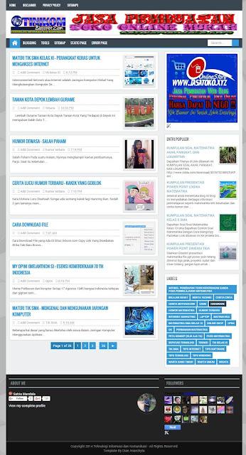 Dijual Blog Pendidikkan Murah