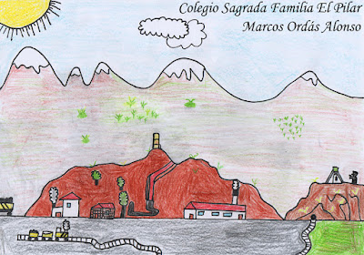 Dibujo de la Mina La Soterraña, Marcos Ordás Alonso