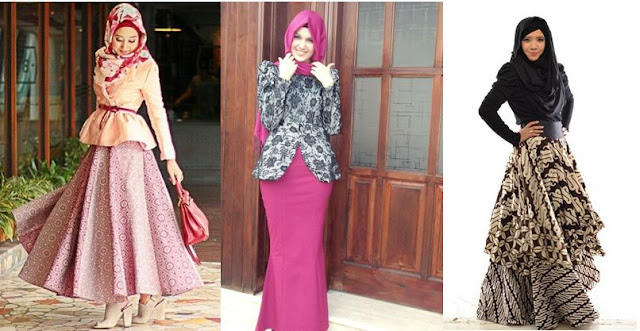 Model Baju Batik Muslim Pesta