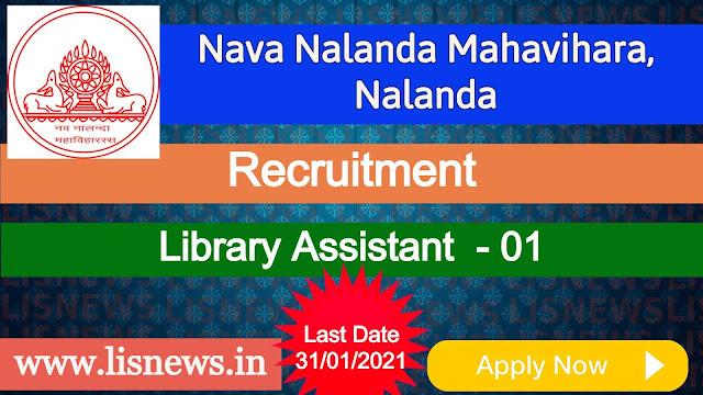 Library Assistant at Nava Nalanda Mahavihara