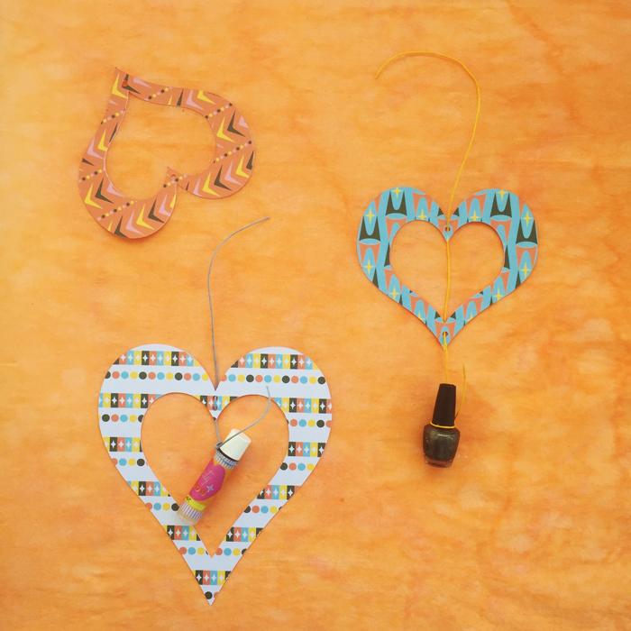 valentines day, valentines, mid-century heart ornament, heart ornament, valentines gift, diy, valetosdiy