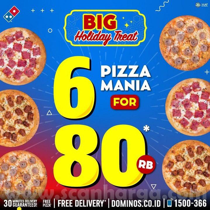 Dominos Pizza Promo Lebaran Beli 6 Pizza Hanya Rp 80Rbu!
