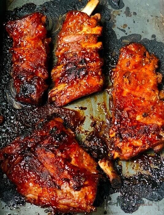 receta paso a paso de costillas al horno