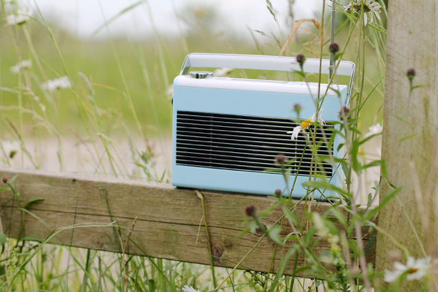 John Lewis DAB retro radio in light blue