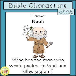 https://www.teacherspayteachers.com/Product/Bible-Characters-I-Have-Who-Has-FREEBIE-4443942