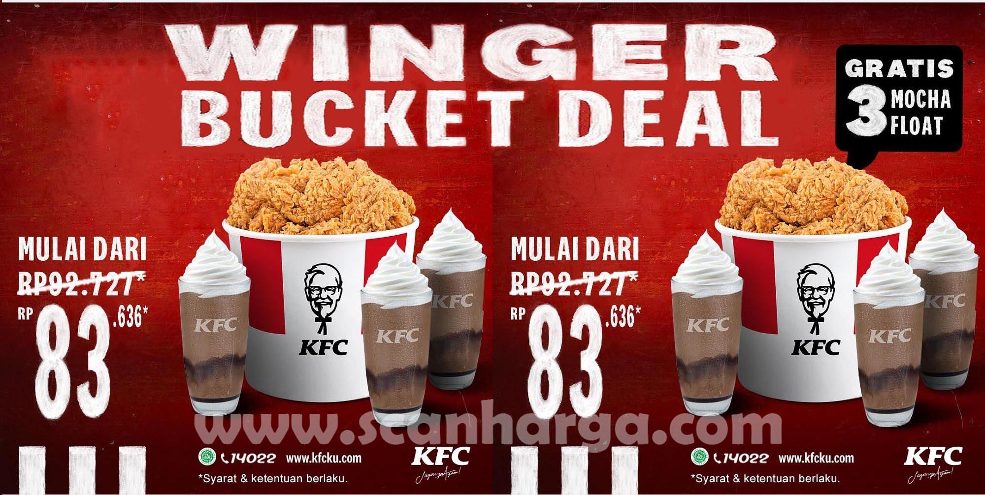 KFC Winger Bucket Deal! Promo Spesial Hari Ini