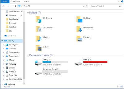 munculnya drive baru pada my computer