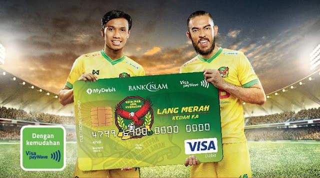 Mohon Kad Debit-i Bank Islam Visa Kedah FA Edisi Lang Merah