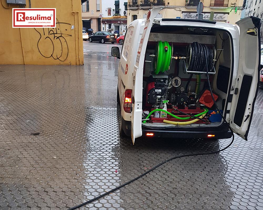vehículos bomba agua alta presión Sevilla