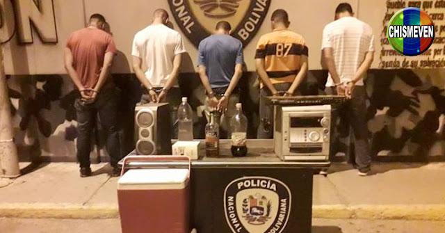 16 detenidos por hacer una rumba en Falcón