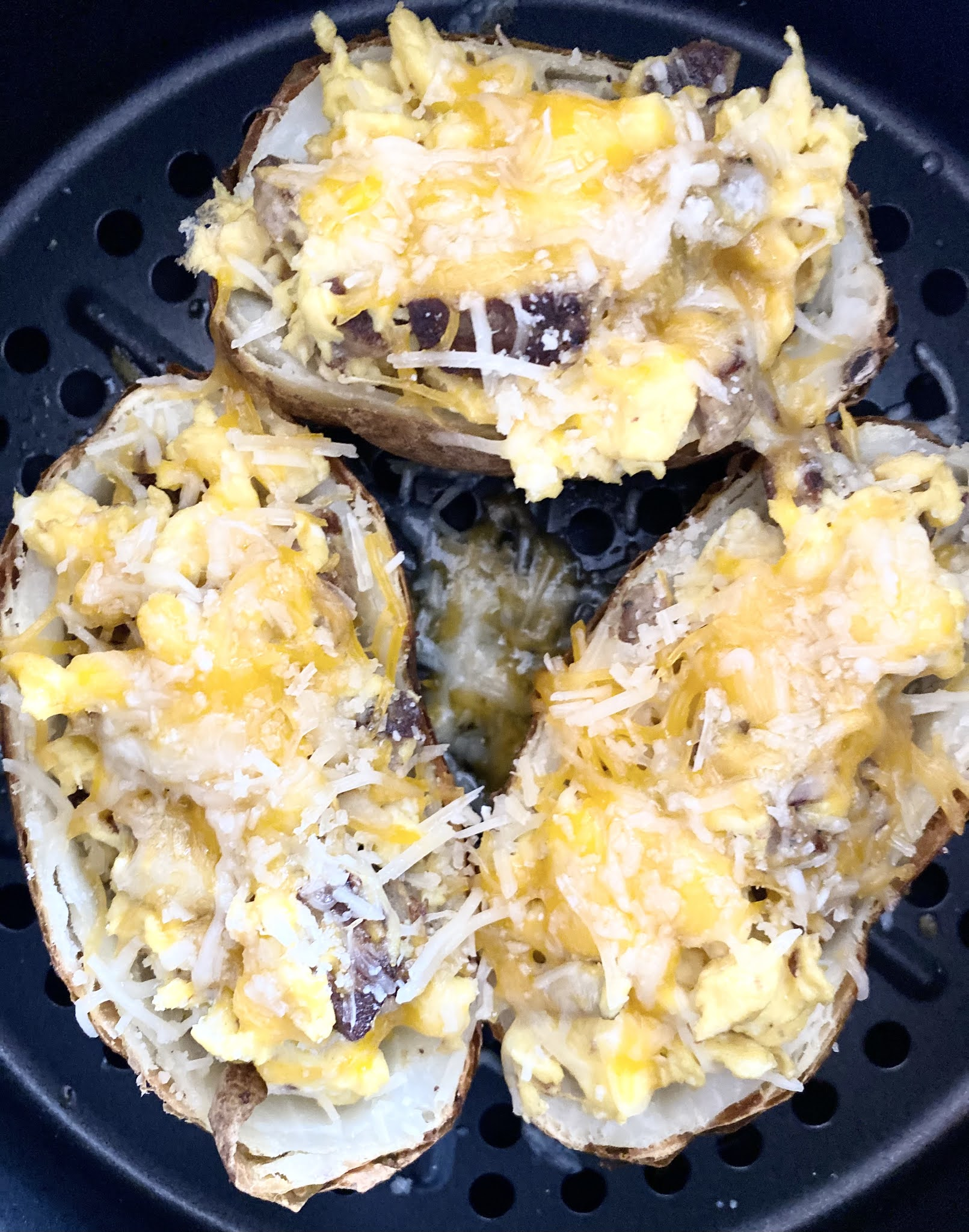 Air Fryer Breakfast Potato Skins