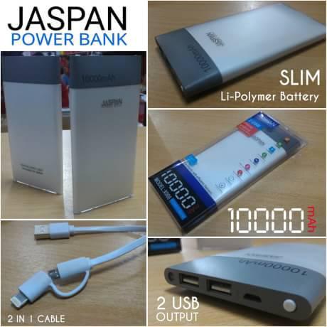 POWER BANK JASPAN REAL CAPACITY 10000mAh