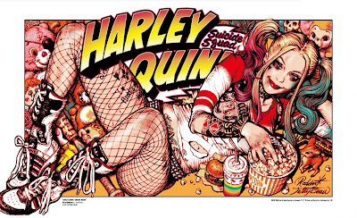 New York Comic Con 2019 Exclusive Suicide Squad Harley Quinn Screen Print by Rockin Jelly Bean x Bottleneck Gallery