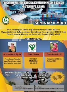 SEMINAR DPC PATELKI  Kabupaten Subang Tahun 2019