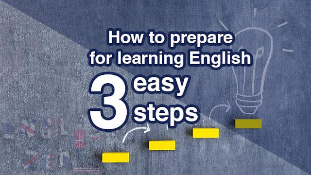 Three steps to learn English language