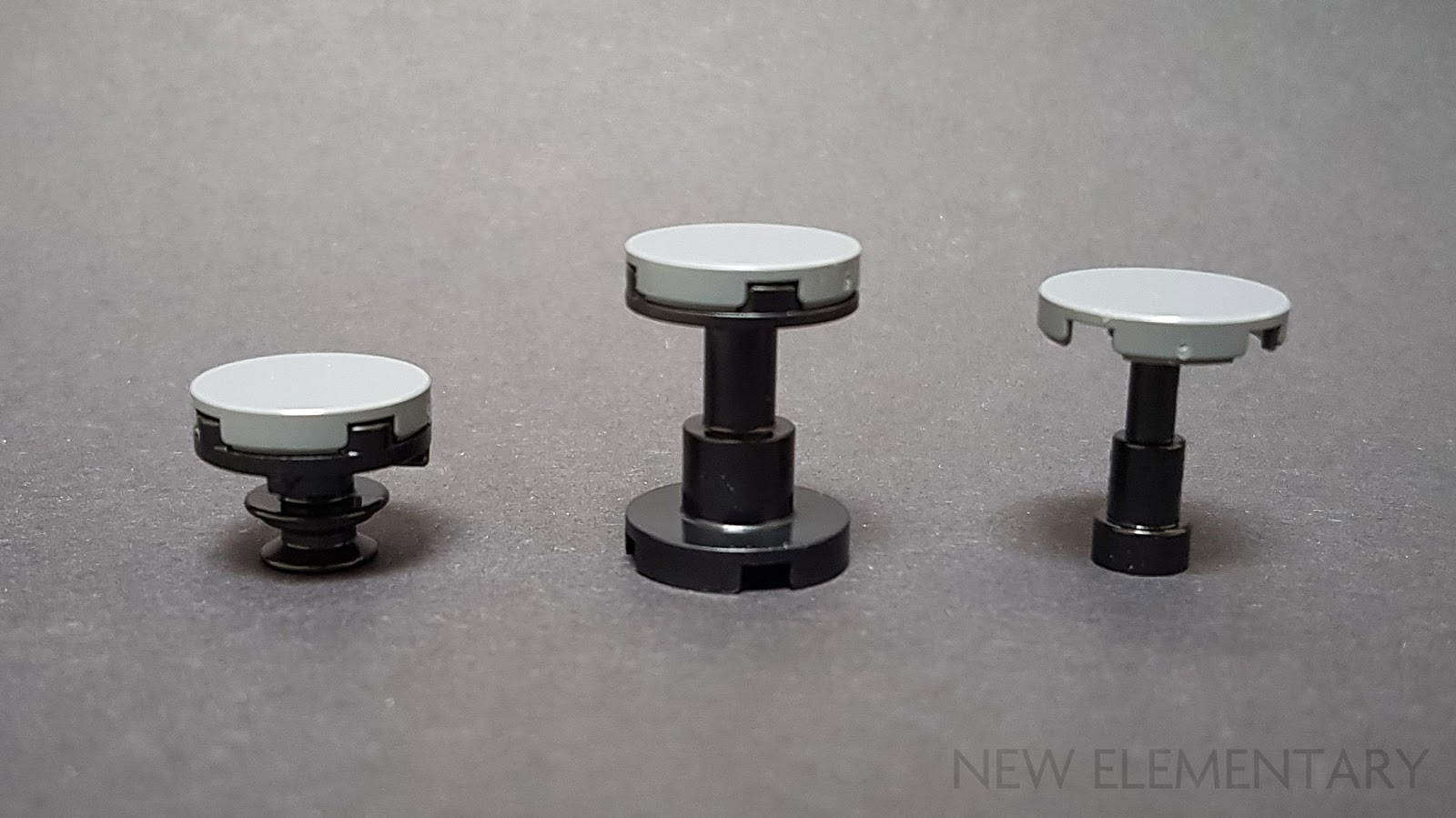 Pin Holder Part No Lego Tile Round 1 x 1 With Bar 20482 Black x 4