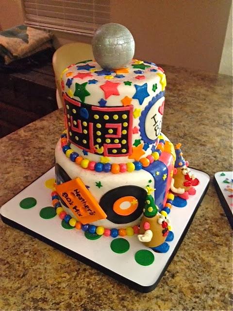 Sweet Ts Cake Design 80s Theme 40th Birthday Cake Disco