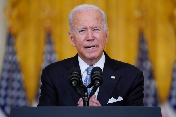 Joe Biden blasts Afghan leaders for 'giving up' and fleeing as he 'stands squarely behind' decision to pull troops out