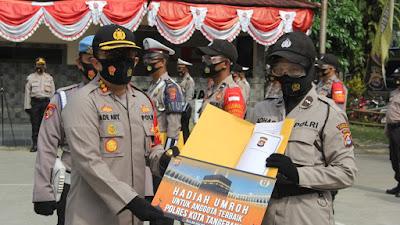 13 Personel Polresta Tangerang Diberi Penghargaan, 1 Dapat Tiket Umroh.