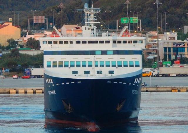 Ήγουμενίτσα: Μηχανική βλάβη καθήλωσε το ''VASTERVIK'' στο λιμάνι της Ηγουμενίτσας