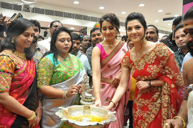 Raashi Khanna And Mehreen Kaur Stills At KLM Fashion Mall Launch In Nellore