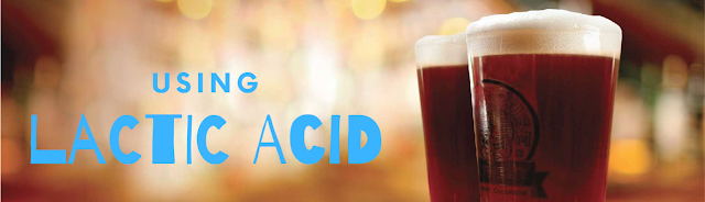 how to use lactic acid to reduce ph levels