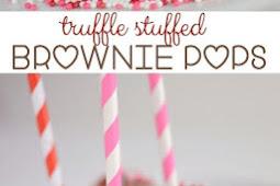 TRUFFLE STUFFED BROWNIE POPS