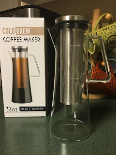 Cold Brew Coffee Maker - 1 Quart Iced Coffee Glass Pitcher with Removable Filter - Makes 4-5 cups of Cold Coffee