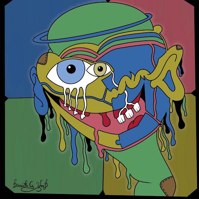happy alien art