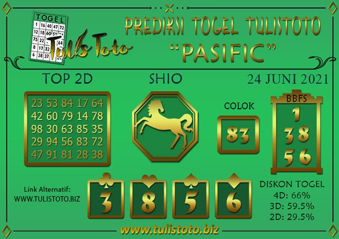 Prediksi Togel PASIFIC TULISTOTO 24 JUNI 2021