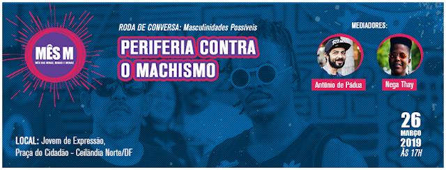 Mês M do Jovem de Expressão promove roda de conversa sobre masculinidades