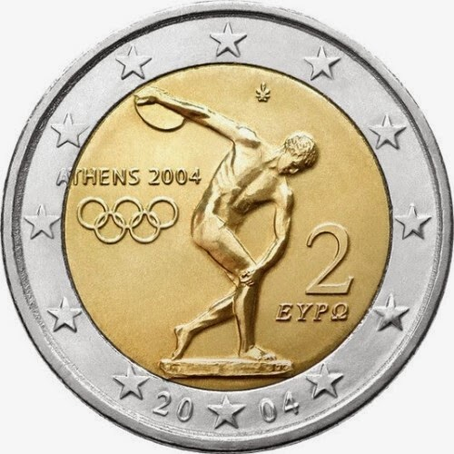 2 euro Greece 2004, Summer Olympics in Athens