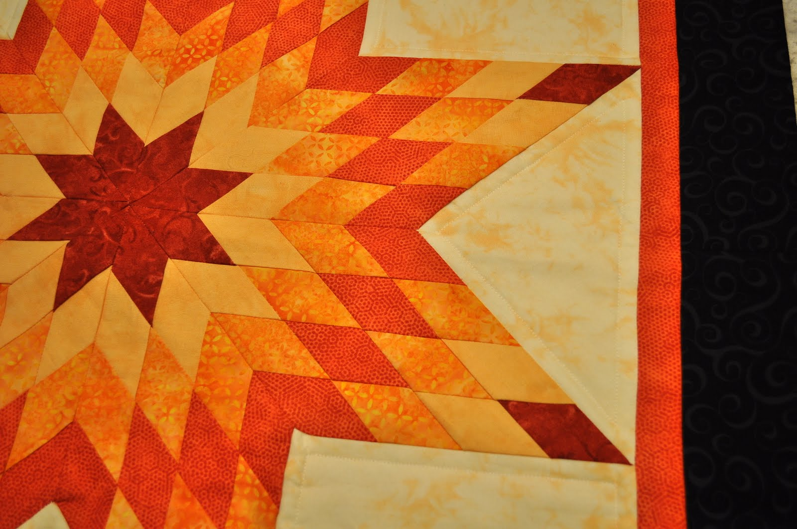 That Forthright Girl: Orange Lone Star Quilt