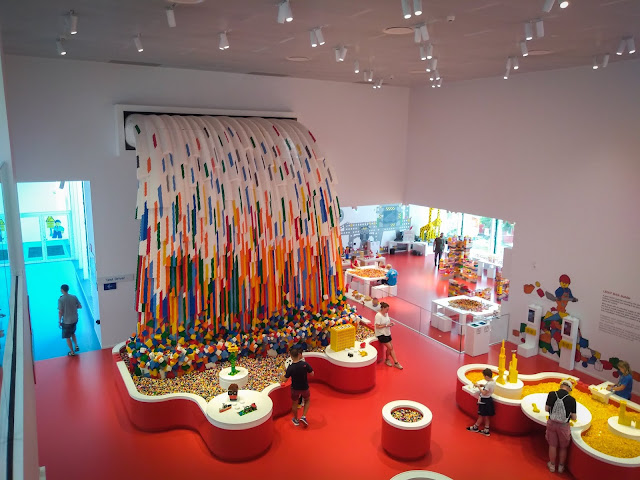The rainbow stands tall; here, at LEGO House in Billund, Denmark