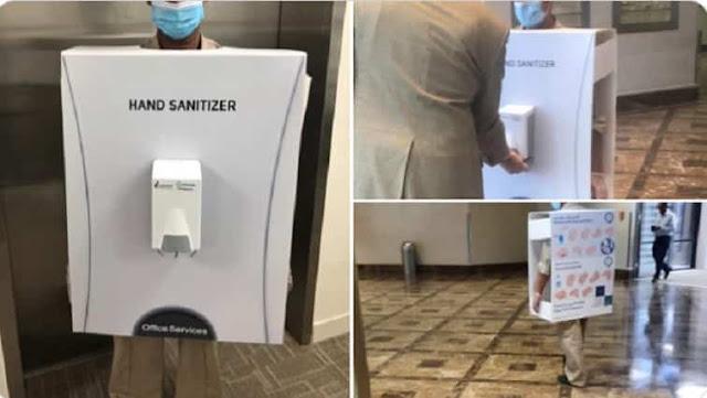 Saudi Aramco apologizes for dressing Employee as Hand Sanitizer Unit