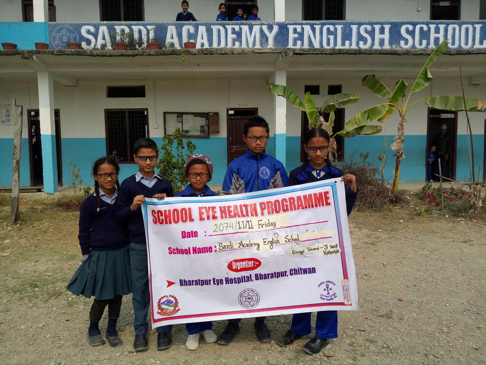School screening camp Bharatpur
