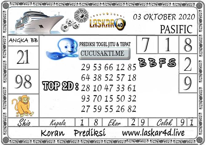 Prediksi Togel PASIFIC LASKAR4D 03 OKTOBER 2020