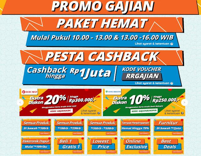 #RupaRupa - #Promo Gajian Dapatkan Paket Hemat & Pesta Cashback (s.d 01 Juli 2019)