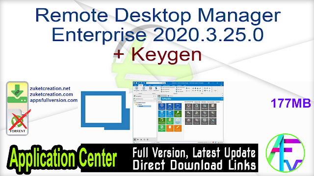 Remote Desktop Manager Enterprise 2020.3.25.0 + Keygen