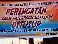 Wisatawan Luar Daerah Kecewa, Permandian Waterboom Mattampa Di Segel Pemerintah