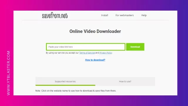 SaveFrom.net YouTube Video Downloader