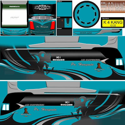 livery po haryanto biru hitam