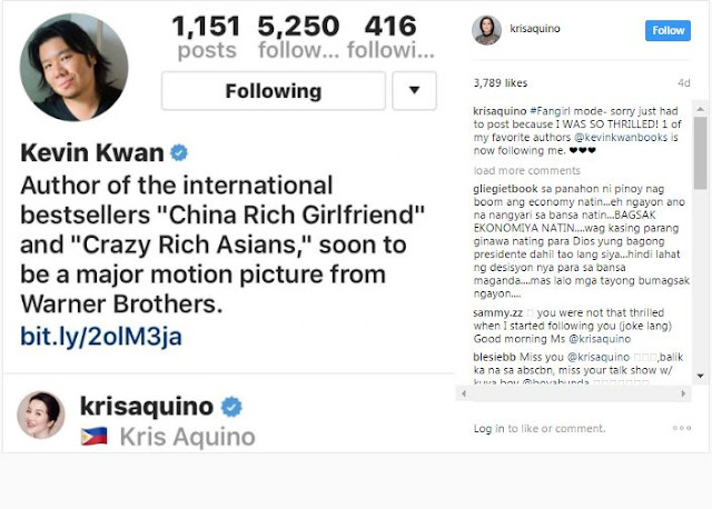 Breaking News! Kris Aquino to Star in the Hollywood Film Adaptation of 'Crazy Rich Asians'