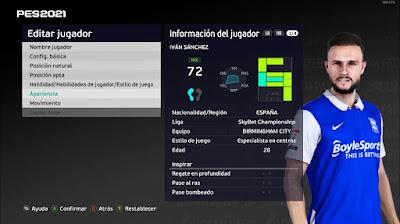 PES 2021 Faces Ivan Sanchez by Emaelmate