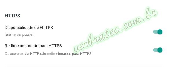 HTTPS Blogger ativado.
