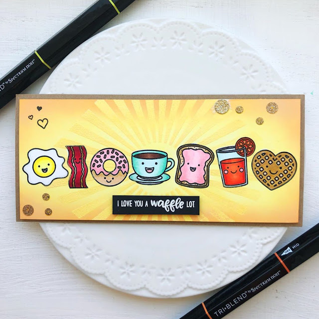 Sunny Studio Stamps: Breakfast Puns Customer Card by Ashley Hughes